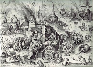 """The Seven Deadly Sins"" by Pieter Brueghel the Elder"